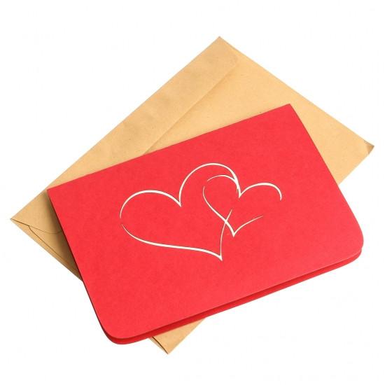 Объемная открытка Признание в любви красное
