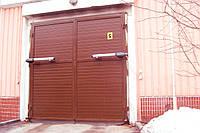 Ворота распашные металлические с калиткой для дачи