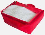 Набір дорожніх сумок 5 шт (червона), фото 7