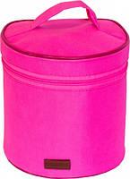 Круглий органайзер для косметики (Рожевий), фото 6