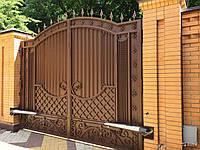 Ворота двухстворчатые распашные