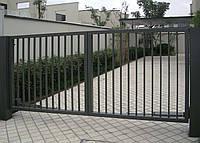 Распашные ворота установка