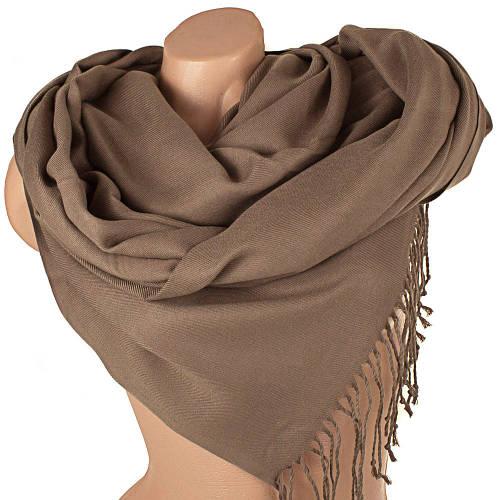 Универсальный коричневый женский палантин из пашмины 184 на 75 см ETERNO (ЭТЕРНО) SAT12107