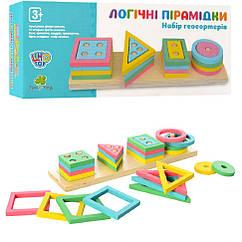 Деревянная игрушка Геометрика Limo Toy MD 2066