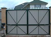 Секционные распашные ворота