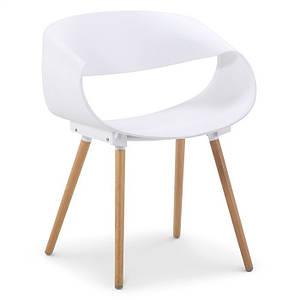Дизайнерский стул Берта SDM пластик белый ножки дерево бук