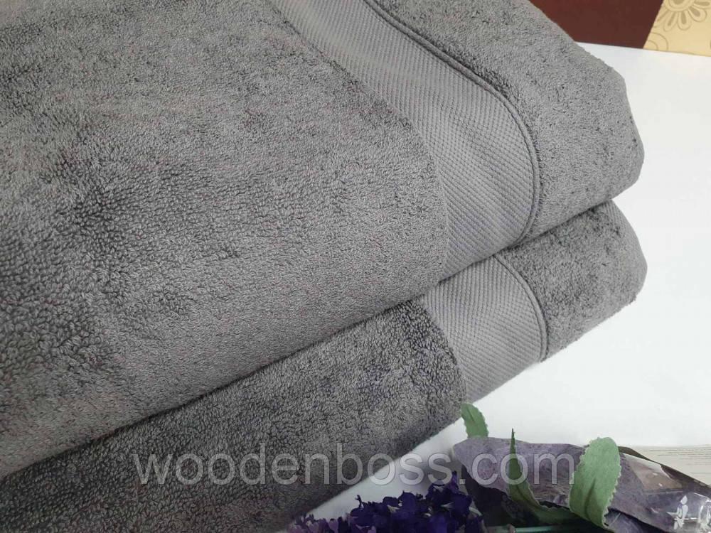 Полотенце махровое, Серый