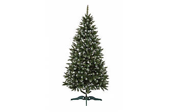 Искусственная елка 1,3 м Анастасия ПВХ зеленая с белыми кончиками