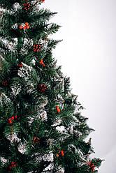 Искусственная елка 2,2 м Калина красная с шишками