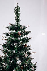 Штучна ялинка Калина біла   ПВХ 1,5 м зелена з шишками