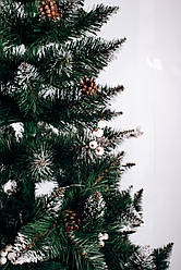 Искусственная елка 2,2 м Калина белая с шишками