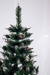 Штучна ялинка Калина біла   ПВХ 2,5 м зелена з шишками