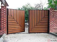Распашные ворота засов