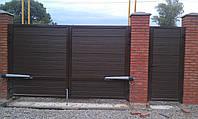 Ворота простые распашные