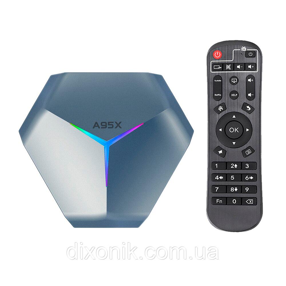 Смарт ТВ приставка A95X F4 4/128Gb Smart TV приставка на андроиде для телевидения