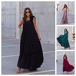 Р 42-56 Шовкове плаття-сарафан з воланами 24256