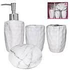 Набір аксесуарів для ванної кімнати 4 пр. Мармур SNT 888-06-022