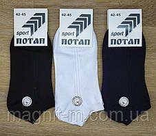 """Чоловічі шкарпетки літні """"Потап sport Premium Qualitiy. Бавовна. Сітка."""
