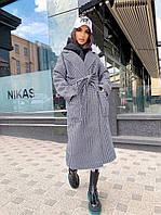 Стильне кашемірове пальто в клітинку, фото 1