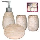 Набір аксесуарів для ванної кімнати 4 пр. Білий Ясен SNT 888-06-027