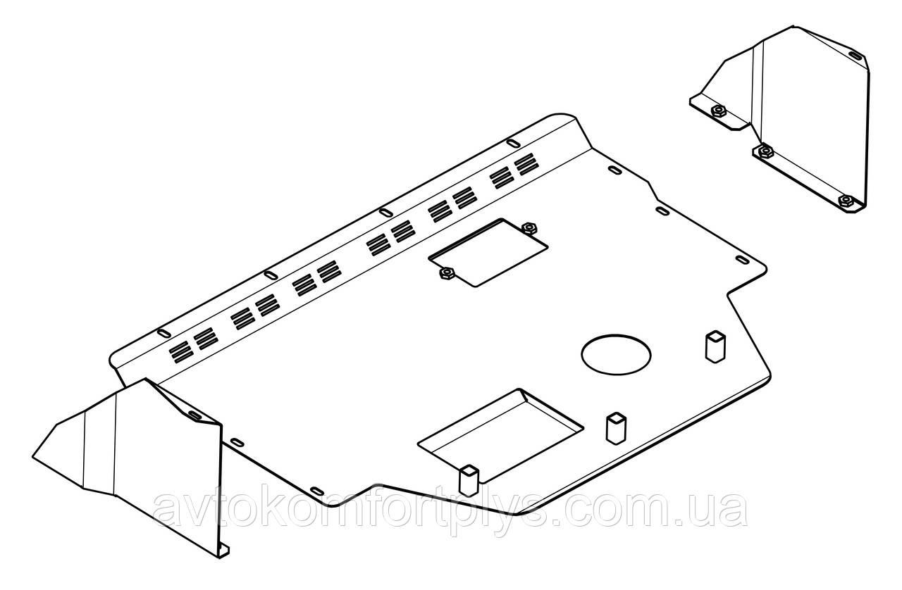 Металлическая защита двигателя (картера) Citroen Jumper I  (1994-2006) (V-2,0; 1,9D; 2,0D; 2,3D; 2,8D;)