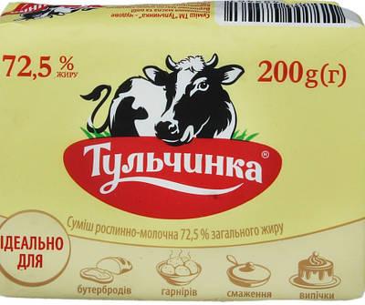 Вершкове масло 72,5% 180 грам ТМ Тульчинка