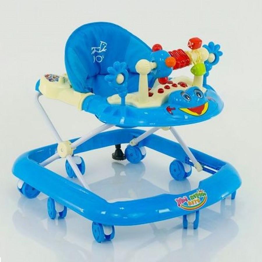 Ходунки дитячі музичні для хлопчиків «Моє перше авто» JOY 528 (блакитні)