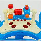 Ходунки дитячі музичні для хлопчиків «Моє перше авто» JOY 528 (блакитні), фото 2