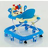 Ходунки дитячі музичні для хлопчиків «Моє перше авто» JOY 528 (блакитні), фото 3