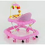 Дитячі ходунки музичні для дівчинки «Music Car» JOY D 28 (рожеві), фото 3
