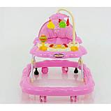 Дитячі ходунки музичні для дівчинки «Music Car» JOY D 28 (рожеві), фото 4