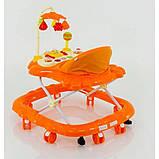 Ходунки музичні для дитини «Music Car» JOY D 28 (помаранчеві), фото 2