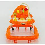Ходунки музичні для дитини «Music Car» JOY D 28 (помаранчеві), фото 4
