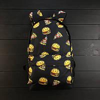 Молодіжний міський рюкзак з бургерами і піцою
