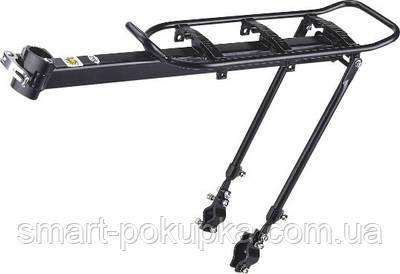 Багажник алюм. кріплення на подсед.штир і верх. пір'я регулир. KAIWEI KW-620-09 (черн.)