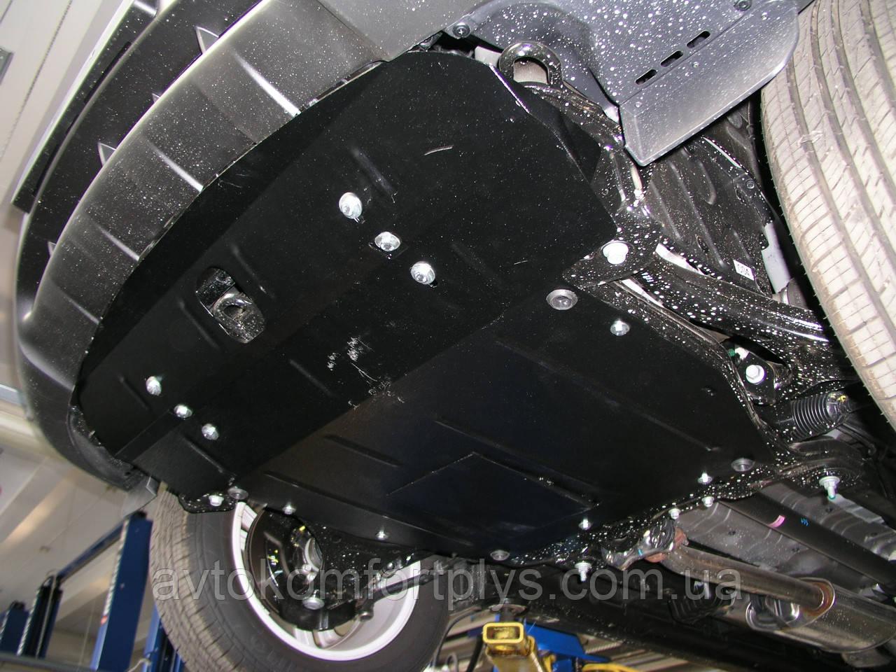 Металлическая (стальная) защита двигателя (картера) Hyundai Santa Fe (2006-2012) (все обьемы)