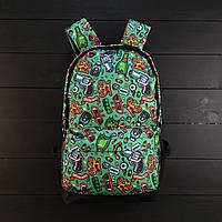 Яскравий зелений рюкзак ганстер Steal kill
