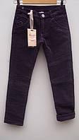 Вельветовые утепленные штаны для девочки 4-12 лет