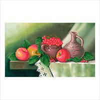 """Схема для вышивки бисером """"Натюрморт с яблоками и калиной"""""""