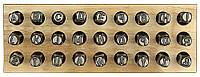 Клеймо Буква Английская высота шрифта - 4 мм