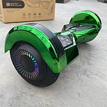 """Гироборд Smart Balance 8"""" зелений хром"""