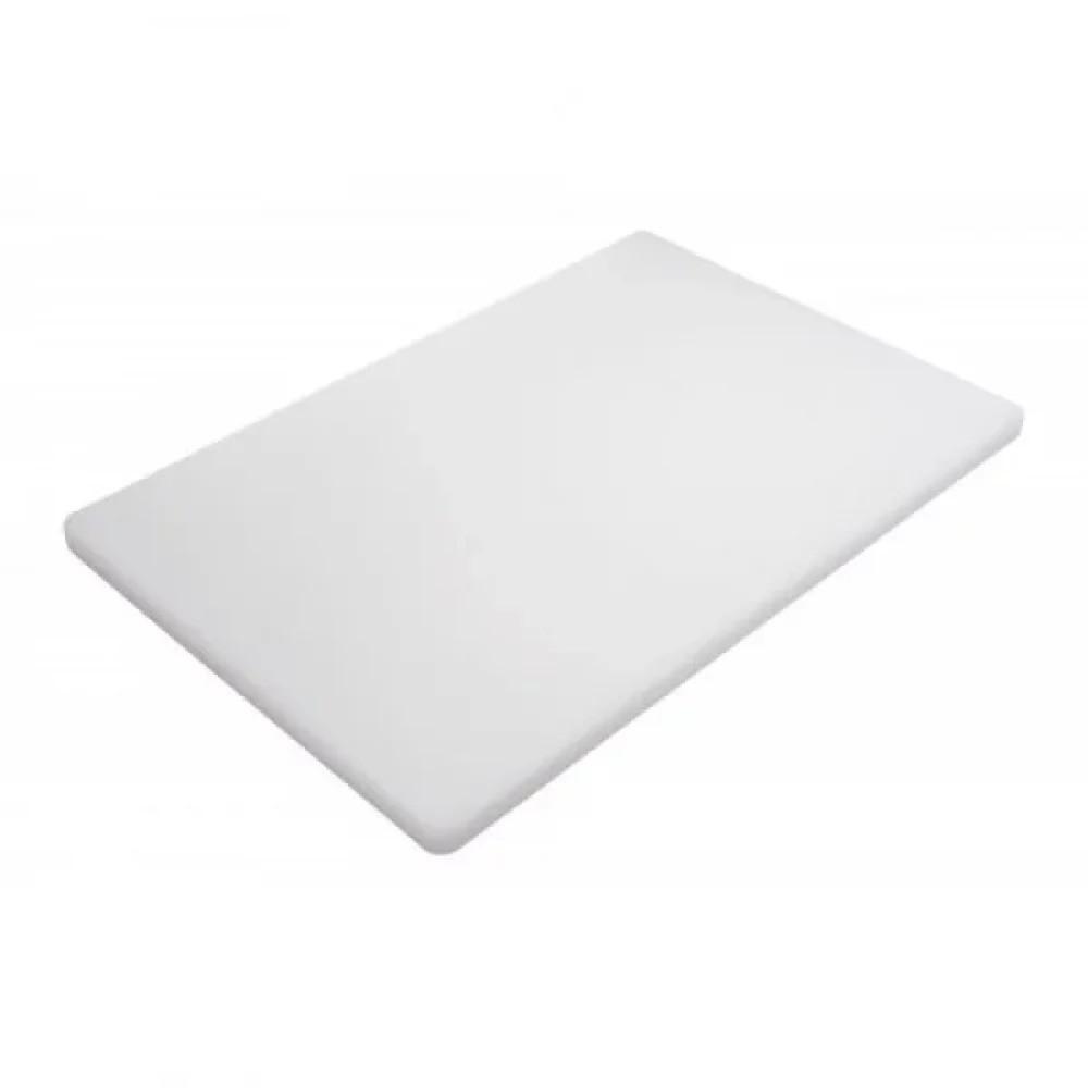 Доска кухонная FoREST Basic Line белая 40х30 см h1,5 см пластик, Разделочная доска пластик, Доска для нарезки