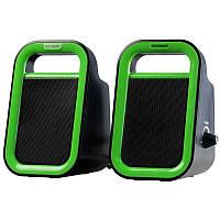 Портативная акустика 2.0 GREENWAVE SA-248, black-green