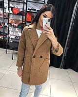 Класичне жіноче кашемірове пальто на гудзиках (Норма), фото 3
