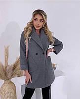 Класичне жіноче кашемірове пальто на гудзиках (Норма), фото 4