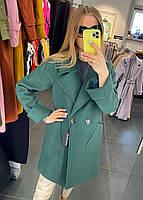 Класичне жіноче кашемірове пальто на гудзиках (Норма), фото 6