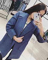 Класичне жіноче кашемірове пальто на гудзиках (Норма), фото 9