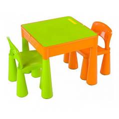Стол и 2 стульчика Tega Mamut оранжево-салатовый