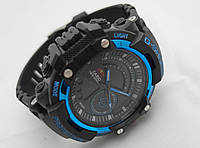 Часы мужские G-Shock - Twin Sensor Black and Blue