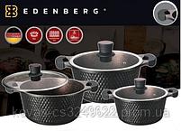 Набор кастрюль с мраморным покрытием Edenberg EB-16001 - 2.4/4.3/6 л, фото 2